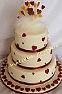 Asian Wedding Cake with hearts