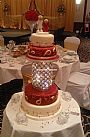 Red Asian Wedding Cake