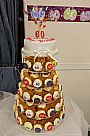 60th Birthday Cupcake Tower