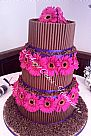 Chocolate Stacked Wedding Cake
