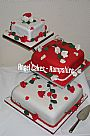Red & White Asian Cake